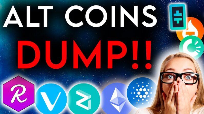 Alt Coins Dump! - Good Time to Buy??