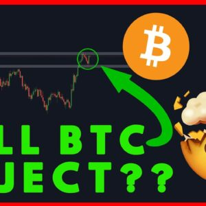 BITCOIN PROBABLY REJECTING! QUICK MARKET UPDATE!