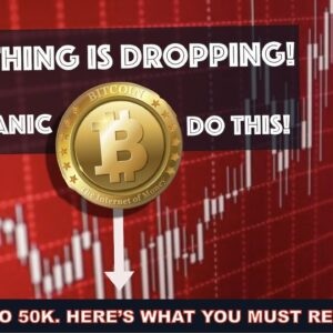 BITCOIN TO 50K & CRYPTO MARKET DROPS. HERE'S WHAT TO DO NOW.