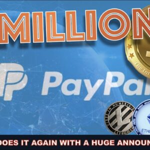 BREAKING: PAYPAL'S ANNOUNCEMENT PUSHES CRYPTO MARKET TO NEAR 2 TRILLION.