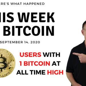 🔴 Number of Users Who Own At Least 1 BTC at ATH | This Week in Bitcoin - Sep 14, 2020