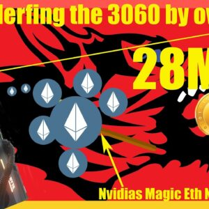 Dont Buy A 3060 For Mining Ethereum Nvidia Is Nerfing It Hard Over 50% Hashrate drop From 3060TI