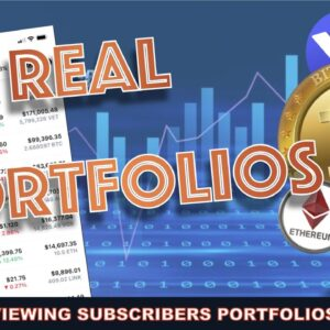 LIVE: REVIEWING REAL SUBSCRIBERS CRYPTO PORTFOLIOS. TOO MUCH BITCOIN?