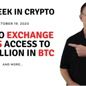 🔴 Crypto Exchange Loses Access to $2.3 Billion in BTC | This Week in Crypto - Oct 19, 2020