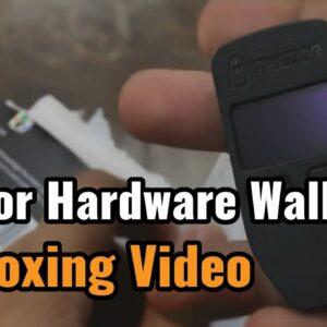 Popular Trezor Hardware Wallet unboxing video