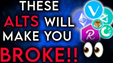 These Alt Coins Will Make You Go Broke! #Shorts