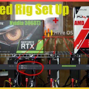 HiveOS Mixed Rig AMD and Nvidia On One Rig Running Trex and TeamRedMiner