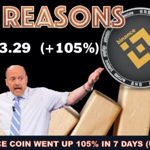 BINANCE COIN (BNB) JUST WENT PARABOLIC. HERE'S 16 REASONS WHY THAT HAPPENED + JIM CRAMER MAD MONEY
