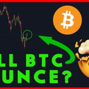 WILL BITCOIN BOUNCE? DON'T PANIC SELL HERE!