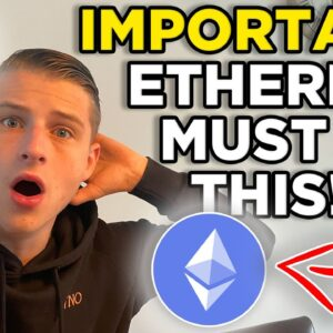 ETHEREUM HOLDERS MUST SEE THIS!!!! MY BITCOIN AND ETHEREUM STRATEGY & PREDICTION!!!!!!!!!!!