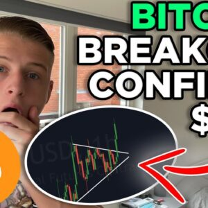 BITCOIN BREAKS OUT OF THE SYMMETRICAL TRIANGLE! $42K IMMINENT