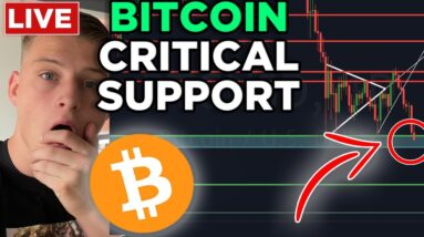 EMERGENCY: BITCOIN TRADING AT KEY SUPPORT!!! WILL IT HOLD?