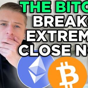 HUGE! THE BITCOIN BREAKOUT IS EXTREMELY CLOSE NOW!!