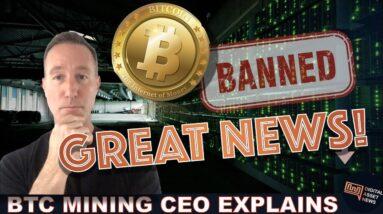 NEW MINE CEO: BITCOIN CHINA MINING BAN IS (mostly) BULLISH.