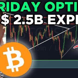 IMPORTANT! $2.5B BITCOIN OPTIONS EXPIRY THIS FRIDAY!!! BITCOIN PRICE PREDICTION & BITCOIN NEWS