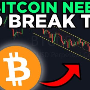 BITCOIN NEEDS TO BREAK THIS LEVEL IN ORDER TO FLIP BULLISH AFTER THE RECENT CRASH!