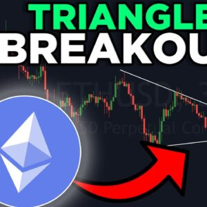 ETHEREUM IS BREAKING OUT OF THE SYMMETRICAL TRIANGLE RIGHT NOW!!!!!