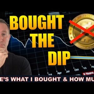 I BOUGHT TODAYS BITCOIN & CRYPTO DIP. HERE'S HOW MUCH & WHY.