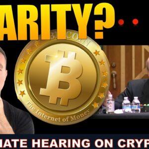 SEC REVEALS CRYPTO PLANS IN TODAYS SENATE HEARING